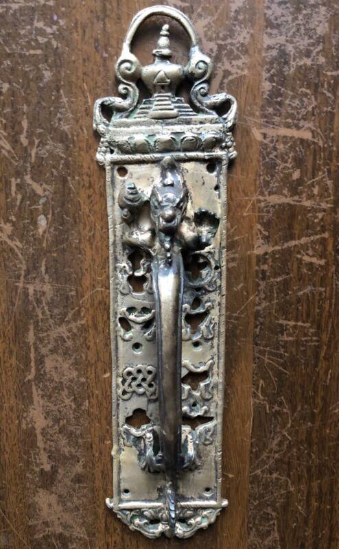 Vintage Brass Ornate Serpent Door Handle Decorative Dragon Door Pull