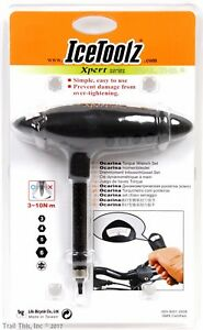 IceToolz Ocarina Bike L-Handle 3-10Nm Torque Wrench w/ 5 bits hex and T25