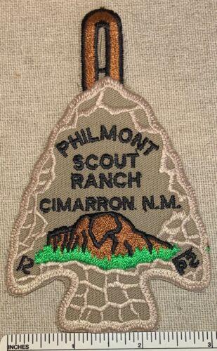 Vintage PHILMONT SCOUT RANCH PATCH Pocket Dangle CAMP ARROWHEAD PB NM Boy Scouts