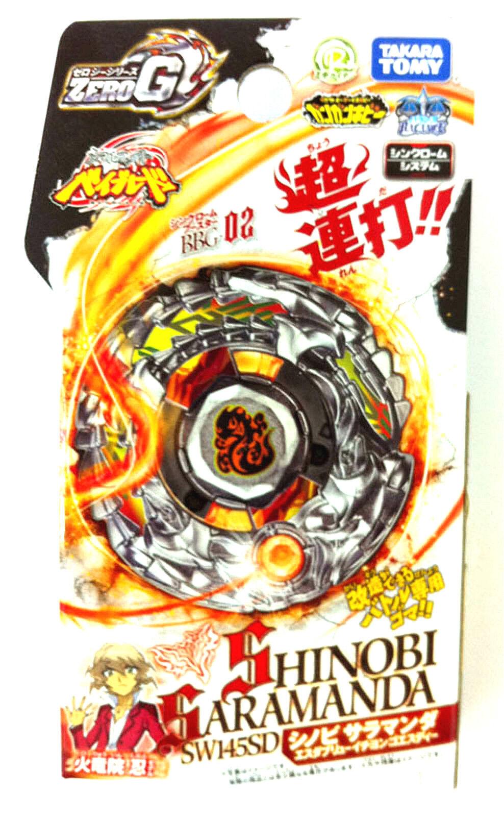 Takara Tomy Beyblade Zero G BBG-02 Shinobi Saramander SW145SD Beyblade Only