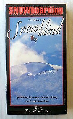 Snow Blind ~ New VHS Video ~ Transworld Snowboarding Video Magazine Rare Vintage