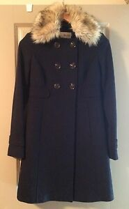 Gorgeous ESPRIT faux-fur collared coat - XS (EUC)