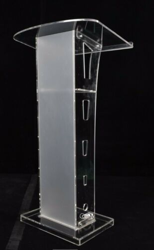 Plexiglass Conference Pulpit Acrylic Podium Clear Church Lectern Office Supply