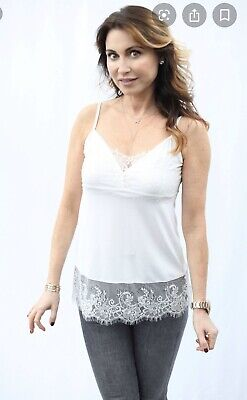 Hotel Particulier Cami White Lace Layering Tank sz XS