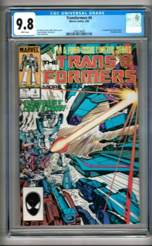 """Transformers #4 (1985) CGC 9.8  White Pages  Salicrup - Springer  """"Shockwave"""""""