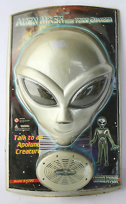 VERY RARE VINTAGE 90'S ALIEN MASK WITH VOICE CHANGER SIMULATOR NEW SEALED ! (Mask With Voice Changer)