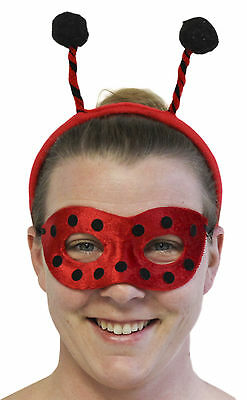 Halloween Bopper Headbands (Ladies Halloween Costume Accessory - Ladybug Mask and Bopper Headband)