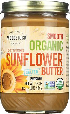 Woodstock Farms-Organic Sunflower Seed Butter - Lightly Sweetened - 16Oz., 1 ... Sunflower Seed Butter