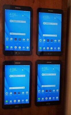 Lot of 4 Samsung Galaxy Tab E 16GB, WiFi + 4G, (AT&T), 8 inch - Black