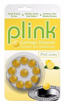 Plink Garbage Disposal Cleaner & Disposer Deodorizer 10 Treatment Pack- Lemon (Plink Garbage Disposal Cleaner)