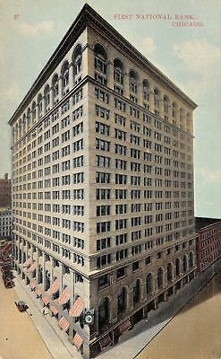 Chicago Illinois First National Bank Building Monroe   Dearborn Streets 1910