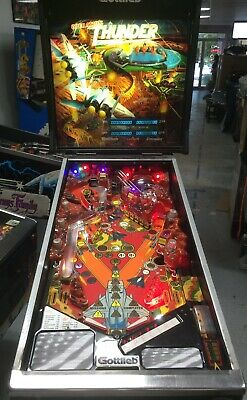 1992 GOTTLIEB OPERATION THUNDER PINBALL MACHINE  NICE LEDS PLAYS GREAT