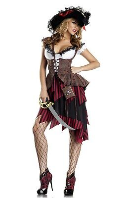 Women's Hot Hooligan Pirate Costume Size S/M (with defect) - Hot Pirate Costumes