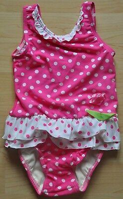 Süßer ADAMS Badeanzug mit Schwimmwindel Einsatz rosa weiß Punkte Gr. 98  NEU