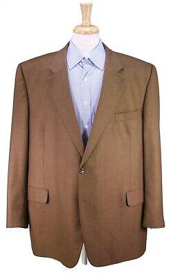 JACK VICTOR Solid Light Golden Brown Twill 100% Cashmere 2-Btn Sportcoat 48R
