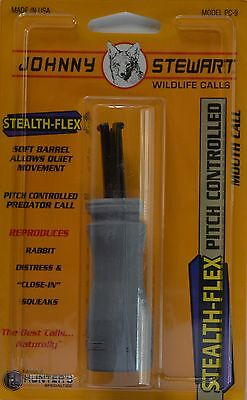 Johnny Stewart Pc-9 Predator Call Compact Mid Range Coyote Rubber Coated Squeaks