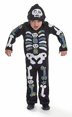 Skeleton Boy / Farbe Bones, Medium, Halloween, Childs Kostüm #DE ()