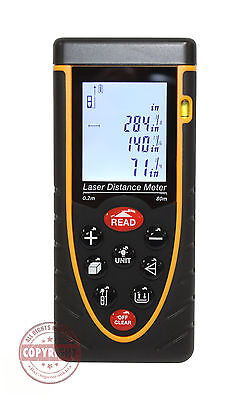 260 Feet Laser Distance Meter Range Findermeasuringtapearea.volume