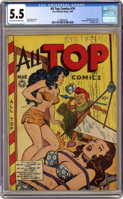 All Top Comics #10 CGC 5.5 1948 2108904002