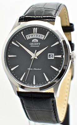 Orient Classic Automatic FEV0V003BH Black Dial Black Leather Band Men's Watch