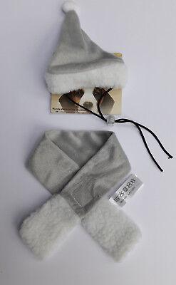 Hundekostüm Verkleidung Fasching Haustier Pet Weihnachten Zipfelmütze und Schal