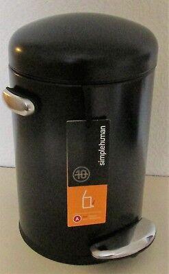 SIMPLEHUMAN MINI ROUND RETRO STEP PEDAL BIN, 4.5L,REMOVABLE LINER,COLOUR -