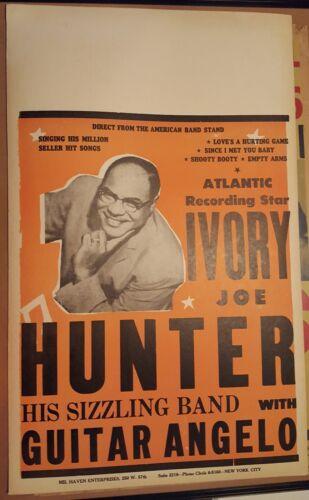 1956/57 unused Concert Poster- Ivory Joe Hunter