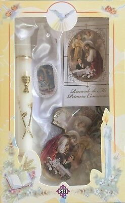 New First Holy Communion Candle Box Gift Set for Boys English Missal Rosary