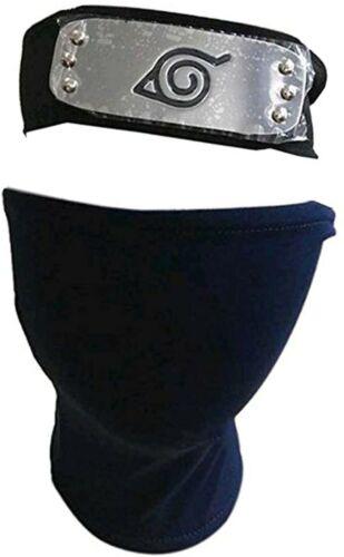 Naruto Shinobi Leaf Village Headband Black Kakashi Mask for Cosplay US Stock