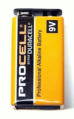 Duracell PROCELL 9 Volt 9V Professional Alkaline Battery NEW Fresh PC1604 -