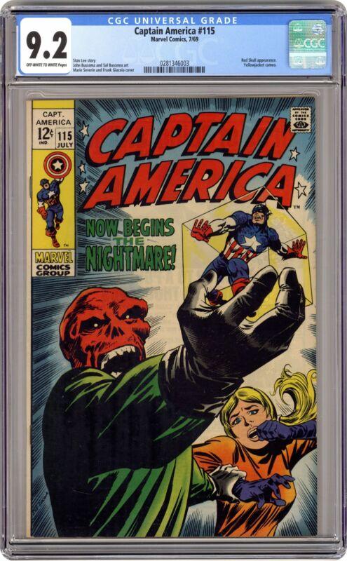 Captain America #115 CGC 9.2 1969 0281346003