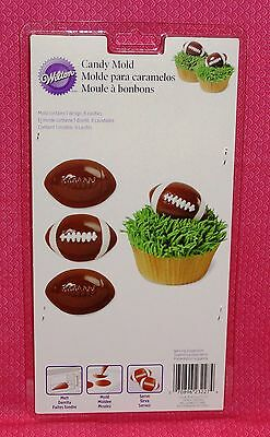 Football Candy Chocolate mold, Truffle, Wilton, Plastic, bon bon. Super Bowl
