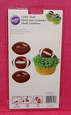 Football Candy Chocolate mold, Truffle, Wilton, Plastic, bon bon. Super Bowl