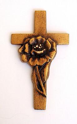 Rose Medallion for Cold Cast Bronze or Cultured Wood Infinity Urn (Cold Cast Bronze Cremation Urn)