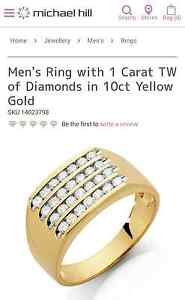 Mens Michael hill 10ct yellow gold dimond ring worth $2999 Merriwa Upper Hunter Preview