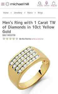 Michael hill 10ct gold dimond ring worth $2999 Merriwa Wanneroo Area Preview