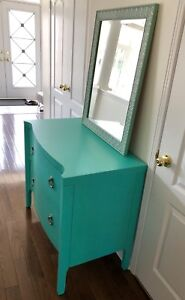 Tiffany Blue Chest with Drawers