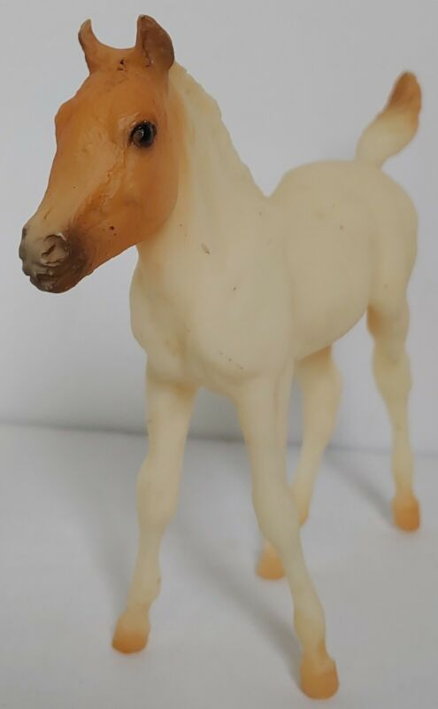 Vintage Breyer Molding Co Pony Plastic Standing Foal Baby Horse White & Tan