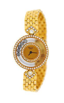 Chopard Happy Diamonds 18K Yellow Gold Watch 20/3957