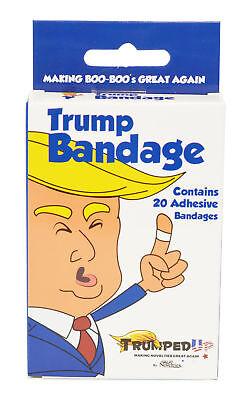 Donald Trump Full Color Novelty Bandages Gag White Elephant Dirty Santa Gift NEW Bandages, Gauze & Dressings