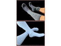 4 Men/'s Socks 2=Lilac 2=Charcoal Gray Sports Cotton Boot Sz 7-10 Flawed Slouch