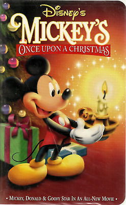 Walt Disney - Mickey's Once Upon A Christmas clamshell VHS classic animation