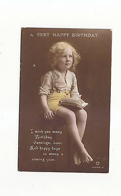 CHARMING POSTCARD OF A BAREFOOT BOY (HAND PAINTED) -ROTARY No A 1652-5