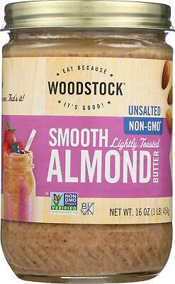 - Almond Butter - Lightly Toasted - Unsalted. (1 - 16 OZ)