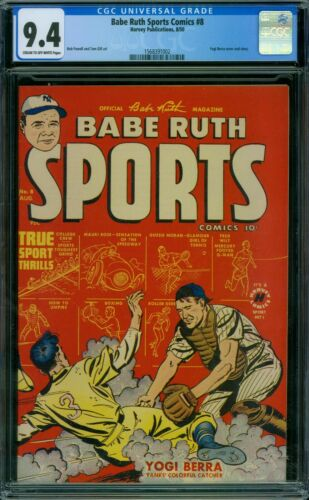 Babe Ruth Sports 8 CGC 9.4 - Single Highest Graded