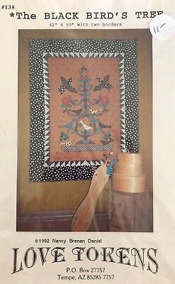 The Black Bird's Tree Animals Applique Quilt PATTERN ONLY by Love Tokens