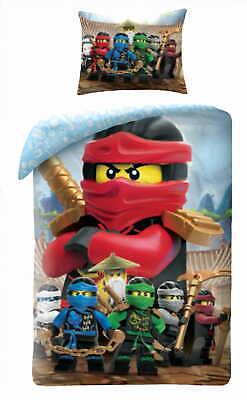 LEGO NINJAGO  Bed linen set 100% Cotton - Duvet cover 140x200 cm + Pillowcase