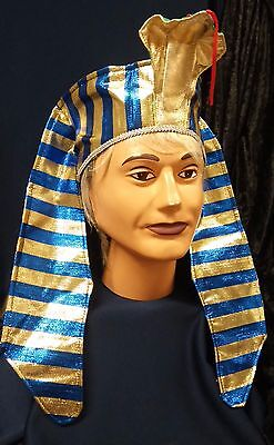 Deluxe Pharaoh Headpiece King Tut Fun Adult or Child Costume Hat Accessory (Pharaoh Hat)