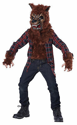 Blood Moon Werewolf Howling Child Costume - Brown/Red (Werewolf Kid Costumes)