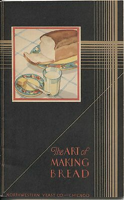 Catalog Ephemera The Art of Making Bread 1920s Northwestern Yeast Co Color Ilust